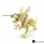 ตัวต่อไม้ 3 มิติ จิ้กซอว์ไม้ ตัวต่อไม้คุณมังกร 3D Animal Puzzle
