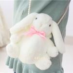 กระเป๋าตุ๊กตากระต่าย สีขาวโบว์ชมพู