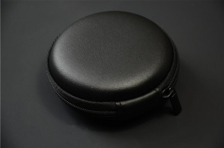 กล่องหูฟังหนังดำอย่างดี