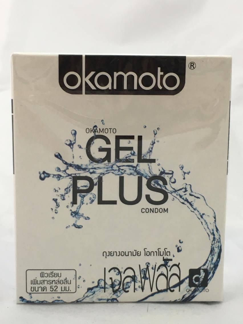 ถุงยางอนามัย โอกาโมโต เจล พลัส okamoto gel plus บรรจุ1กล่อง 2 ชิ้น