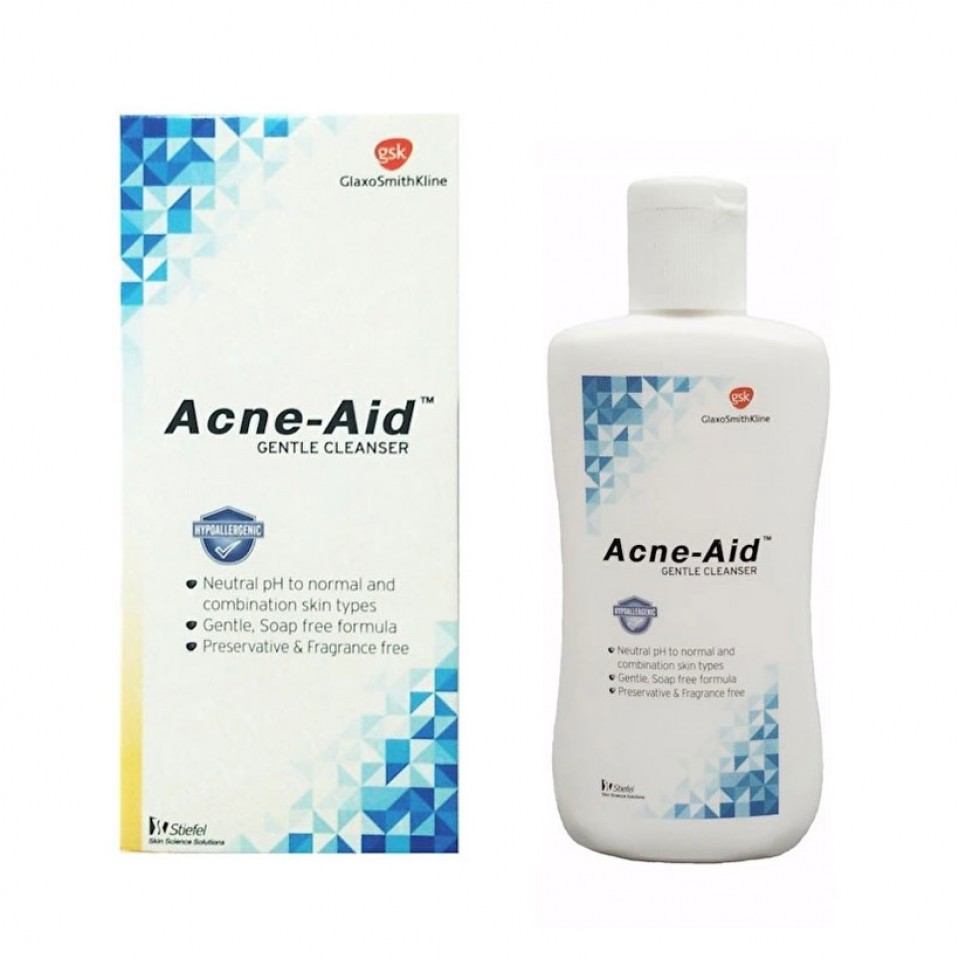 Acne-Aid gentle cleanser แอคเน่-เอด เจนเทิ่ล คลีนเซอร์ 100มล.