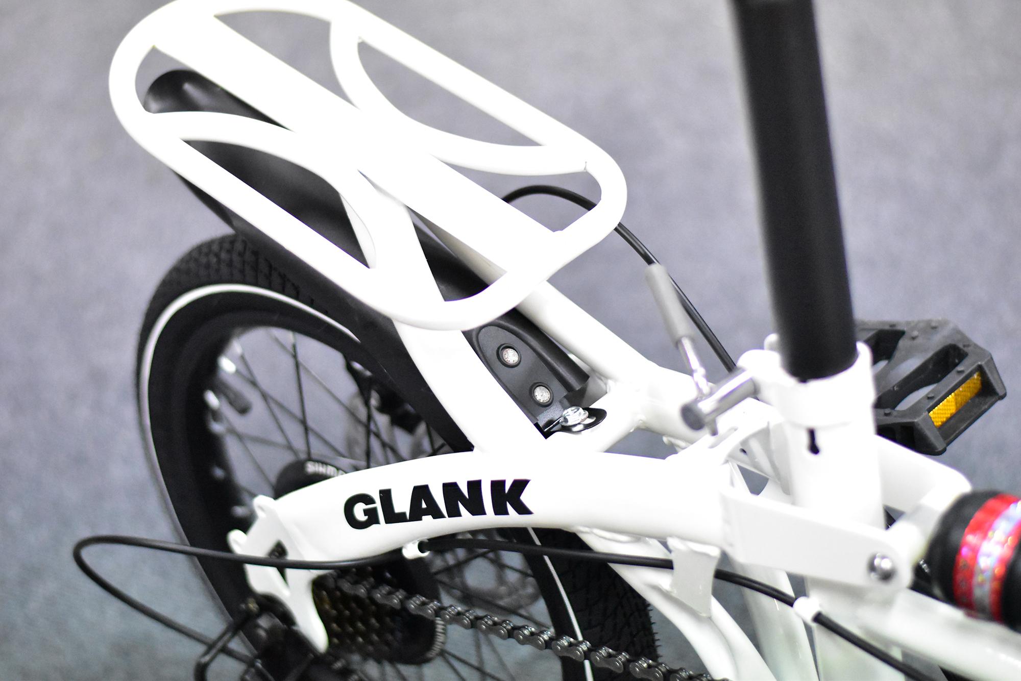 จักรยานพับได้ GLANK Twin Cycle สีขาว