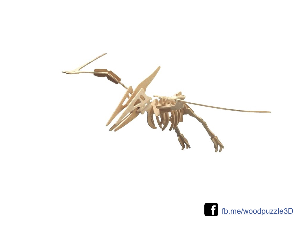 ตัวต่อไม้ 3 มิติ จิ้กซอว์ไม้ ตัวต่อไม้ไดโนเสาร์ เทอราโนดอน 3D Animal Puzzle