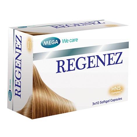Mega We Care Regenez รีจีเนส อาหารเสริมบำรุงเส้นผมและเล็บ