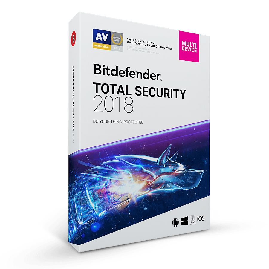 Bitdefender Total Security 2018 (1 Year , 3 PC)