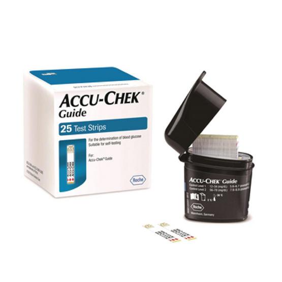 Accu-Chek Guide Test Strip แผ่นตรวจวัดระดับน้ำตาลในเลือด