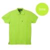 เสื้อโปโลชายสีเขียวมะนาว