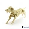 ตัวต่อไม้ 3 มิติ จิ้กซอว์ไม้ ตัวต่อไม้น้องหมา 3D Animal Puzzle
