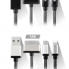 สายชาร์จ Earldom 3 in 1 iPhone 4 + iPhone 6 + Micro USB