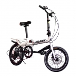 จักรยานพับได้ GLANK รุ่น Twin Cycle สีขาว