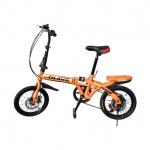 จักรยานพับได้ GLANK รุ่น Twin Cycle สีส้ม