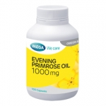 MEGA We care EVENING PRIMROSE OIL 1000 mg เมก้า น้ำมันอีฟนิงพริมโรส 1000 มก. 100 แคปซูล