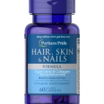 Puritan's Pride Hair, Skin & Nails Formula 60 Caplets