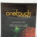 ถุงยางอนามัย onetouch strawberry condom วันทัช สตอเบอรี่