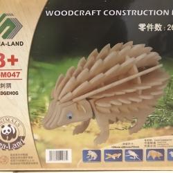 ตัวต่อไม้ 3 มิติ จิ้กซอว์ไม้ ตัวต่อไม้คุณเม่น 3D Animal Puzzle