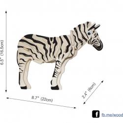 ตัวต่อไม้ 3 มิติ จิ้กซอว์ไม้ ตัวต่อไม้ม้าลาย 3D Animal Puzzle
