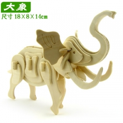 ตัวต่อไม้ 3 มิติ จิ้กซอว์ไม้ จิ้กซอว์ไม้ ตัวต่อไม้ช้าง 3D Animal Puzzle