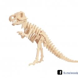 ตัวต่อไม้ 3 มิติ จิ้กซอว์ไม้ ตัวต่อไม้ไดโนเสาร์ ไทแรนโนซอรัส 3D Animal Puzzle