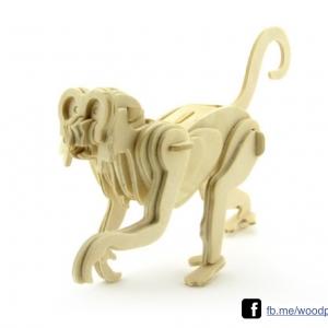 ตัวต่อไม้ 3 มิติ จิ้กซอว์ไม้ ตัวต่อไม้น้องลิง3D Animal Puzzle