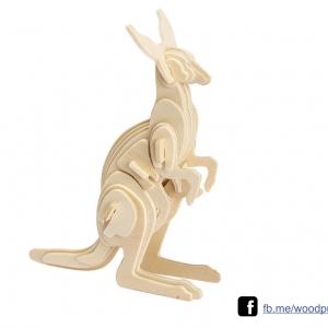 ตัวต่อไม้ 3 มิติ จิ้กซอว์ไม้ ตัวต่อไม้คุณจิ้งโจ้ 3D Animal Puzzle