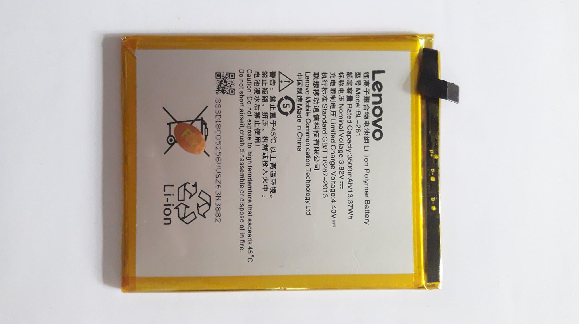 Battery Lenovo K5 Note A7020 BL 261 รับประกันคุณภาพนาน 3 เดือน