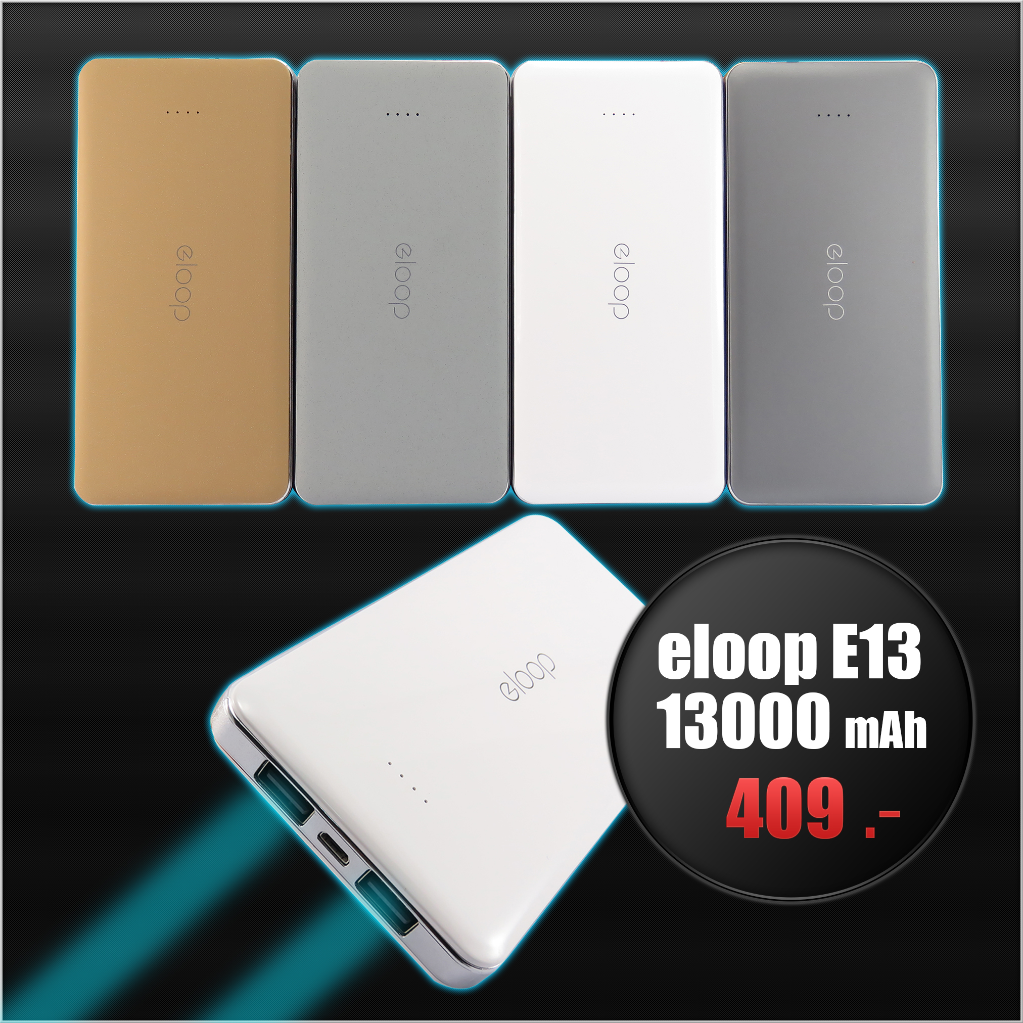 Eloop E13 Power bank 13000 mAh