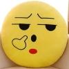 หมอนอิงตุ๊กตา อิโมจิ แคะขี้มูก ทรงกลม สีเหลือง