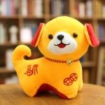 หมอนผ้าห่มแยกชิ้น สุนัข สีเหลือง ตัวใหญ่