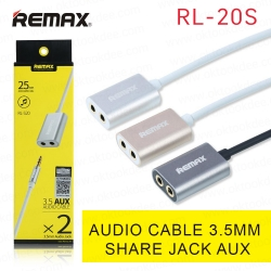 Remax RL-20S สายแจ็ค 3.5mm AUX Audio Sharing Cable