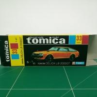 REPRODUCTION BOX for Tomica Black Box No.33 Toyota Celica LB 2000GT