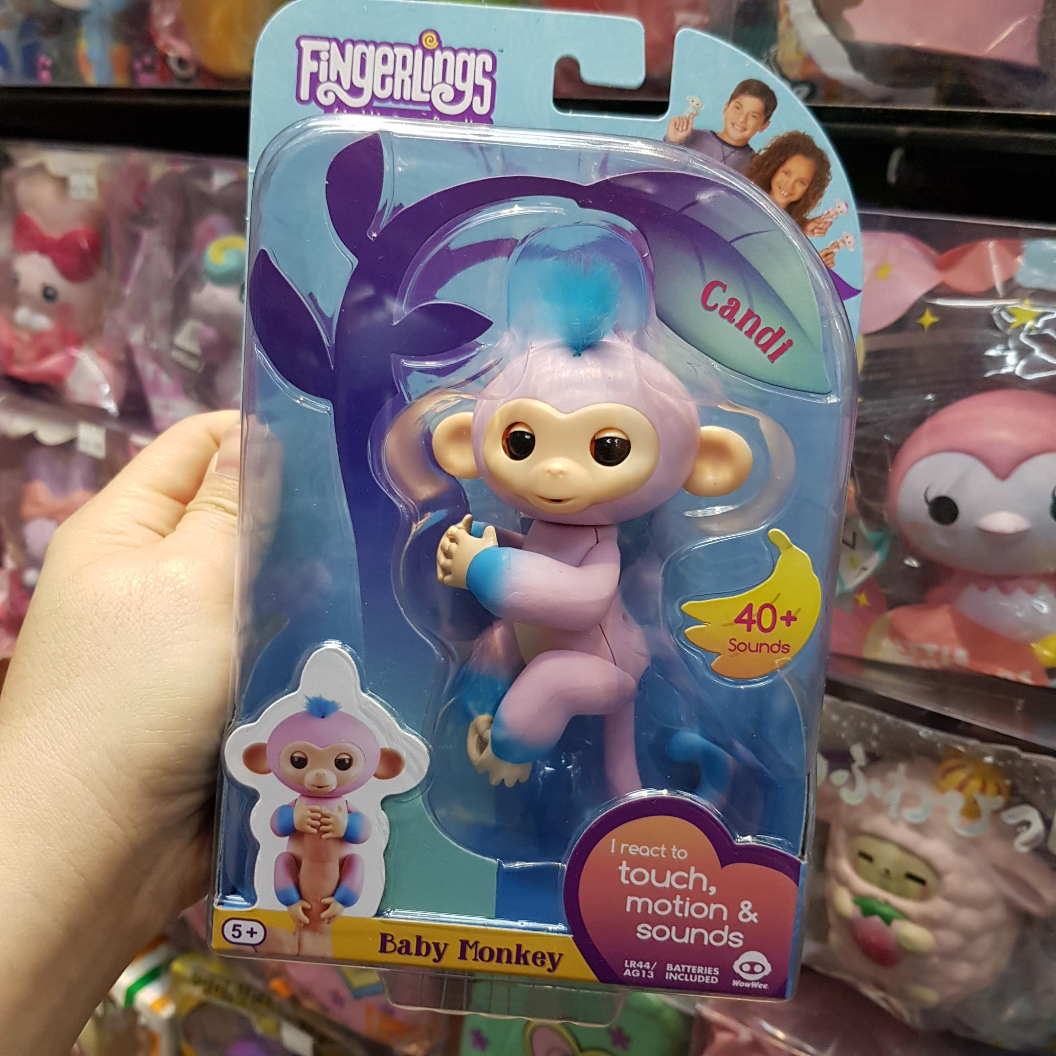 ??? Fingerlings Interactive Baby Monkey Candi 2-tone Fingerling Pink And Blue Ro Toys & Hobbies
